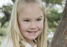 Bright Eyed Blond Girl Headshot Royalty Free Stock Photo
