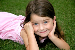 Bright Eyed Girl. Darling little girl with big bright eyes Royalty Free Stock Image