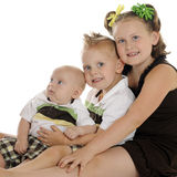 Bright Eyed Siblings Royalty Free Stock Images