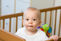 Bright eyed young baby or child Royalty Free Stock Photos