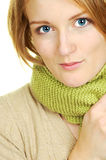 Bright Eyes. Bright blue eyes of a blond woman Royalty Free Stock Photo