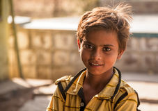 Bright eyes of happy indian child Stock Images