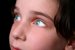 Bright Eyes of a Hopeful Child Royalty Free Stock Image