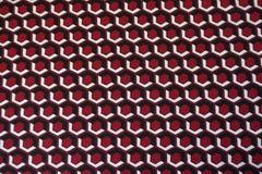 Bright fabric with geometric print Stock Image