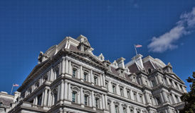 Bright Facade of the Eisenhower Executive Office Building Royalty Free Stock Photography