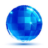 Bright facet three-dimensional sparkle eps10 spherical object  Stock Image
