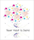Bright faiworks with colorful confetti royalty free illustration