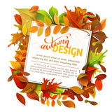 Bright Fall Background. royalty free illustration