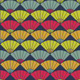 Bright fan pattern. Based on Traditional Japanese Embroidery. Abstract Seamless pattern. Bright fan background. Based on Traditional Japanese Embroidery Royalty Free Stock Image