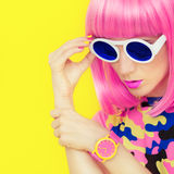 Bright fashion girl glamor style Royalty Free Stock Photos