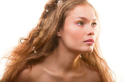 Bright fashion portrait of beautiful young woman Royalty Free Stock Image
