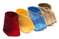 Bright and fashionable ties Stock Photo
