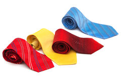 Bright and fashionable ties Royalty Free Stock Photo