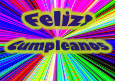 Feliz Cumpleanos Stock Photo