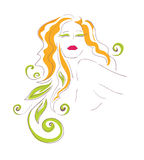 Bright feminine image. Vector Illustration  bright feminine image Royalty Free Stock Images