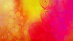 Bright festive abstract background with yellow bokeh and red patterns Royalty Free Stock Image