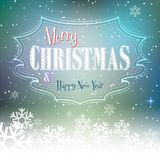 Elegant Christmas background with snowflake. Bright festive background for congratulations Royalty Free Stock Photography