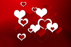 Bright festive background with hearts. For Valentine Royalty Free Stock Photos