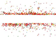 Bright festive background of multicolor candy. Isolated on white royalty free stock photos
