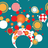 Bright festive circles. Vector bright festive circles with pattern Stock Image