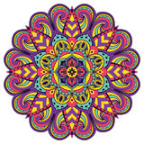 Bright, festive mandala. Multicolor children circular pattern on a white background Royalty Free Stock Images