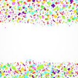 Bright festive merry abstract falling colorful confetti background stock illustration
