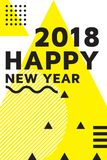 Bright festive New Year poster. Colorful vector illustration of celebration for Happy new year 2018 season Stock Photography