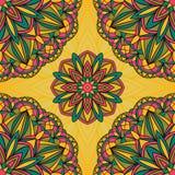 Bright festive pattern. Seamless pattern of colorful mandalas Stock Image