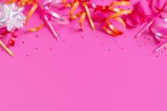 Bright festive pink background royalty free stock photo