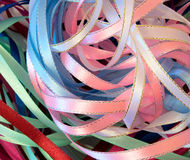 Bright festive ribbons Royalty Free Stock Image
