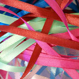 Bright festive ribbons Royalty Free Stock Photography