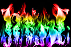 Bright fiery flame effects stock illustration