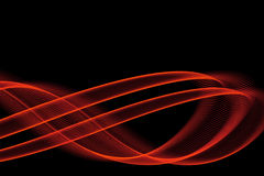 Bright fiery lines. On black background Royalty Free Stock Photo