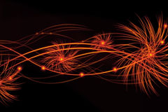 Bright fiery lines on black background. Abstract Bright fiery lines on black background Royalty Free Stock Images