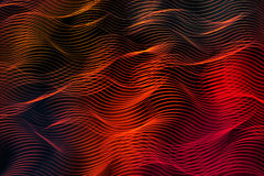 Bright fiery lines on black background Stock Photo