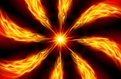 Bright fiery Star. Red Star for You design on Black Royalty Free Stock Image