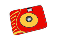Bright film disposable camera Royalty Free Stock Photography