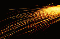 Bright fire sparkles Stock Photography
