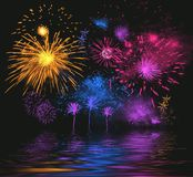 Bright firework royalty free illustration