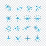 Bright firework, decoration twinkle, shiny flash. Sparkle lights. Vector Royalty Free Stock Photos