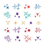 Bright firework, decoration twinkle, shiny flash. Sparkle lights. Vector Royalty Free Stock Photo