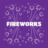 Bright firework, decoration twinkle, shiny flash vecor illustrat. Ion Royalty Free Stock Photography