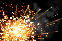 Bright firework design on black Stock Image