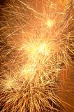 Bright firework. Firework lights in the dark sky royalty free stock image