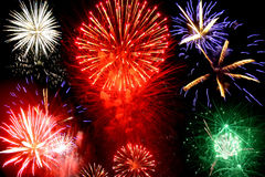 Bright fireworks Stock Photos