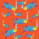 Bright fish in the Red Sea. Composition on a light background .. Bright fish coral reef aquariums. Design for textiles, wrapping paper, napkins, background for Stock Images