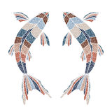 Bright fishes, zodiac Pisces sign Stock Image