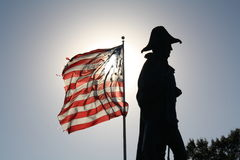 Bright Flag and Dark Shadow Stock Image