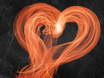 Bright flame heart Stock Image