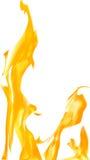 Bright flame on white background illustration. Illustration with bright flame on white background Royalty Free Stock Photo